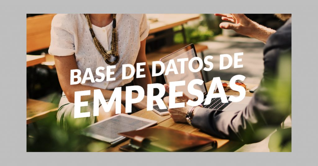 Base de datos de empresas por provincia